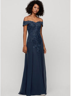 blue puffy prom dress long