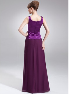A-Line/Princess V-neck Floor-Length Chiffon Charmeuse Mother of the Bride Dress