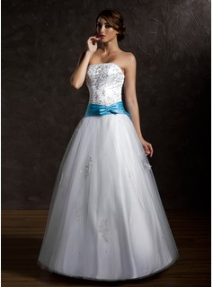 blue and silver prom dress