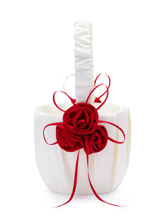 Flower Girl Satin Flower Basket