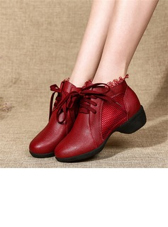 Women's Leatherette Lace Mesh Boots Sneakers Modern Jazz Sneakers Dance Boots Dance Shoes