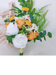 Classic Hand-tied Rattan Straw/Artificial Flower Bridal Bouquets/Bridesmaid Bouquets (Sold in a single piece) - Bridal Bouquets/Bridesmaid Bouquets