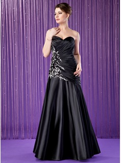Trumpet/Mermaid Sweetheart Floor-Length Charmeuse Mother of the Bride Dress With Lace Beading Sequins