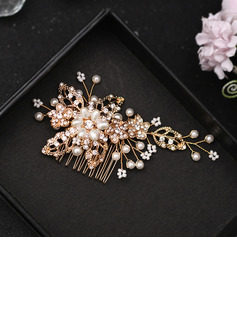 Ladies/Kids Beautiful Rhinestone/Alloy/Imitation Pearls Combs & Barrettes With Rhinestone/Venetian Pearl (Sold in single piece)