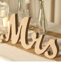 """Mr. & Mrs."" Delicate Wooden Decorative Accessories (set of 2)"