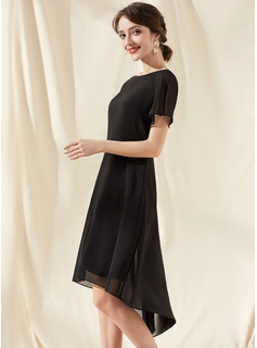 one sleeve short homecoming dress