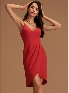 V-Neck Sleeveless Asymmetrical Dresses