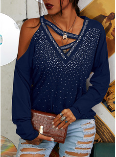 Regular Sequins Solid Casual Long Sleeves