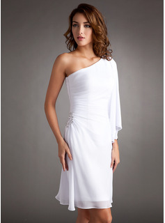 prom white short dress