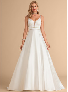 simple sleek wedding dress