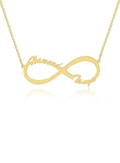 Custom 18k Gold Plated Silver Infinity Two Name Necklace Infinity Name Necklace - Birthday Gifts Mother's Day Gifts