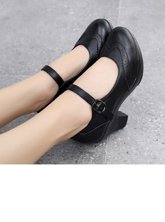 Women's Heels Pumps Latin Modern Character Shoes With Ankle Strap Dance Shoes