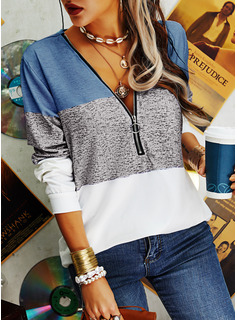 Regular Cotton Blends V-Neck Fitted 3XL L S M XL XXL Blouses