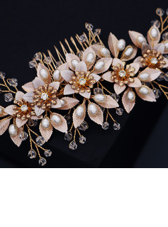 Ladies Beautiful Rhinestone/Alloy/Imitation Pearls Combs & Barrettes With Rhinestone (Sold in single piece)