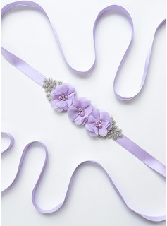 Elegant/Beautiful Satin Sash With Flower