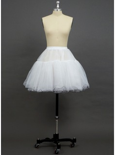 Women Organza/Polyester Short-length 3 Tiers Petticoats