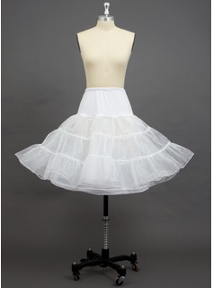 Women Tulle Netting/Polyester/Spandex Knee-length 3 Tiers Petticoats