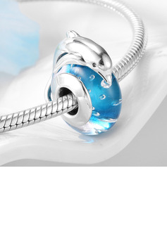 Charms With Murano Glass Dolphin - Valentines Gifts
