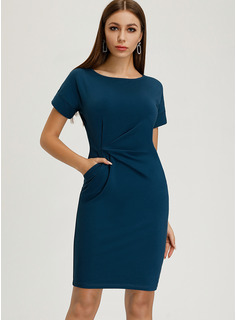 Round Neck Polyester Dresses