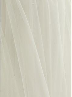 long white tulle dress