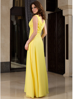 satin v neck bridesmaid dresses
