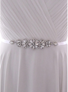 wedding gowns with colored sash