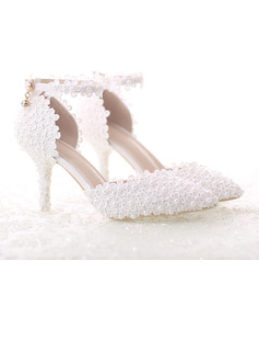 Vrouwen Patent Leather Stiletto Heel Pumps Sandalen met Feather Strass Lovertje Vastrijgen