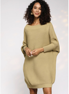 Round Neck Long Sleeves Dresses
