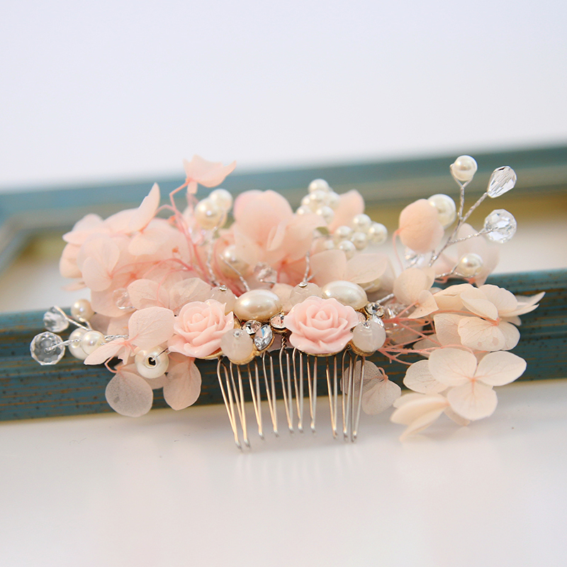 Ladies Exquisite Alloy/Imitation Pearls/Silk Flower Combs & Barrettes With Venetian Pearl