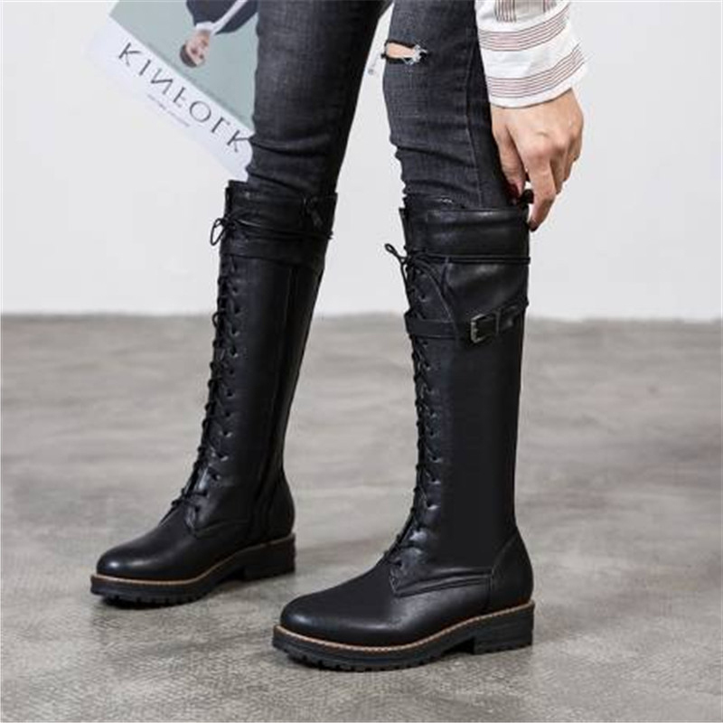 lace up boots knee