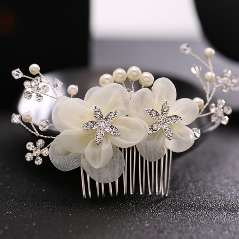 Ladies Elegant Alloy/Imitation Pearls/Silk Flower Combs & Barrettes