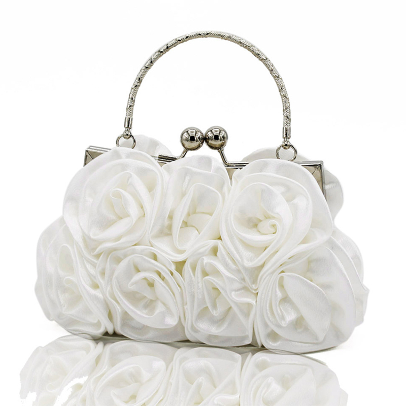 Attractive Satin Clutches/Wristlets/Top Handle Bags/Bridal Purse/Evening Bags