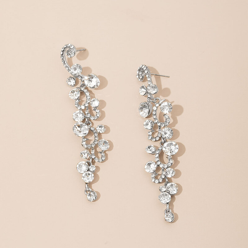 Jolie Alliage/Strass Dames Boucles d'oreilles