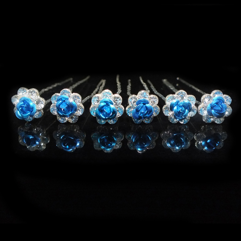 Kids Lovely Alloy Hairpins With Rhinestone (Set of 6)