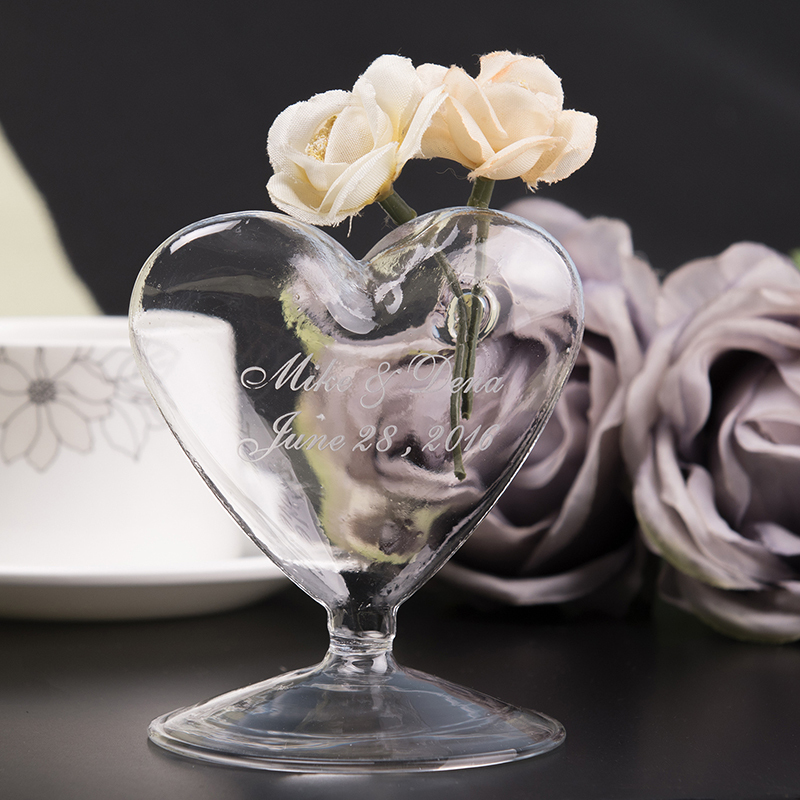 Personalized Heart-shaped Glass (Sold in a single piece)
