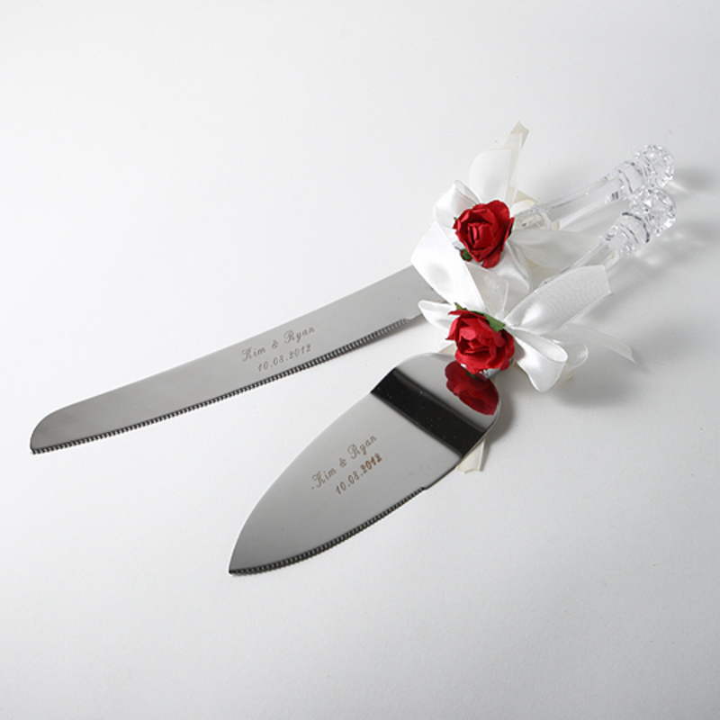 Personalized Flower Design Stainless Steel Serving Sets