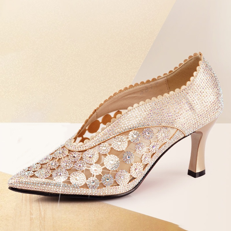 Women's Sparkling Glitter Heels Latin Dance Shoes