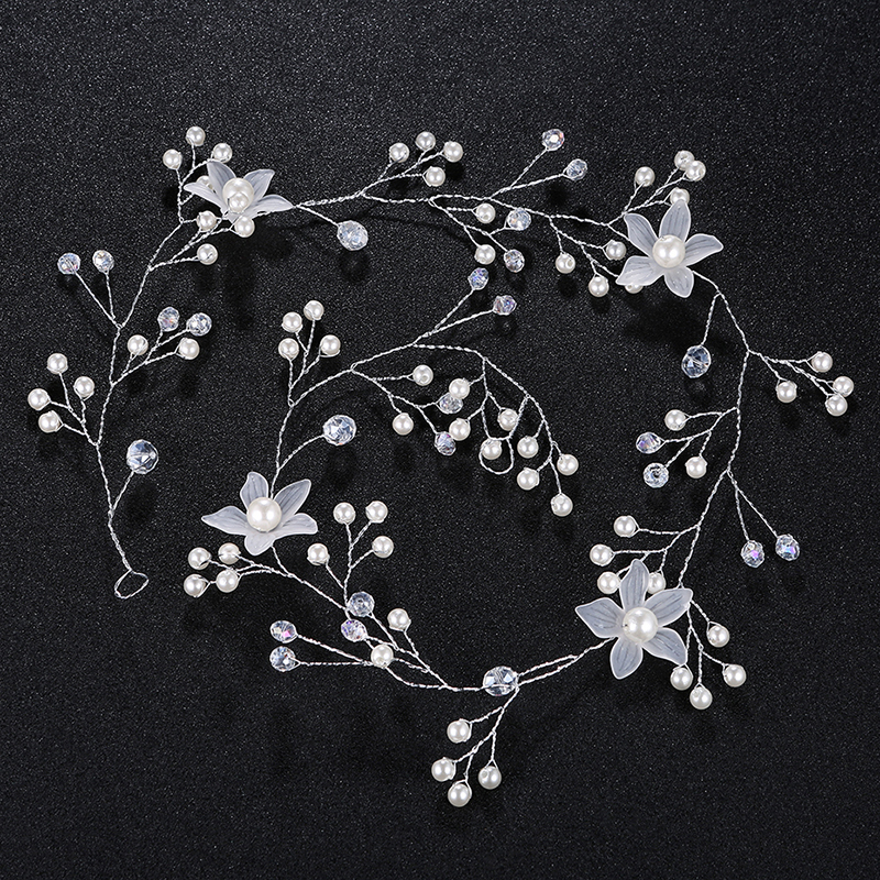 Fashion Alloy/Imitation Pearls Headbands (Sold in single piece)