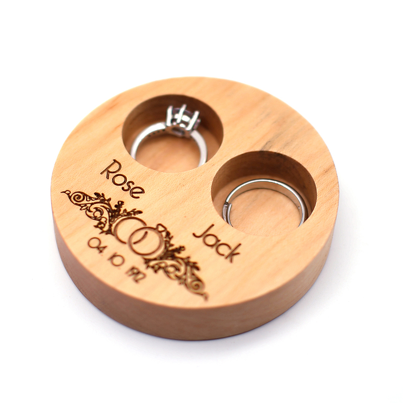 Groom Gifts - Personalized Wooden Ring Box