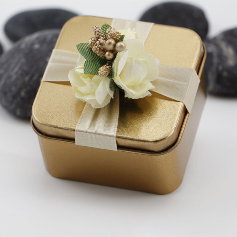 Treasure Chest Metal Favor Boxes With Ribbons (Set of 10)