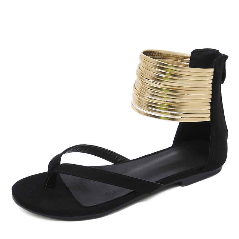Women's Suede Flat Heel Sandals Flats