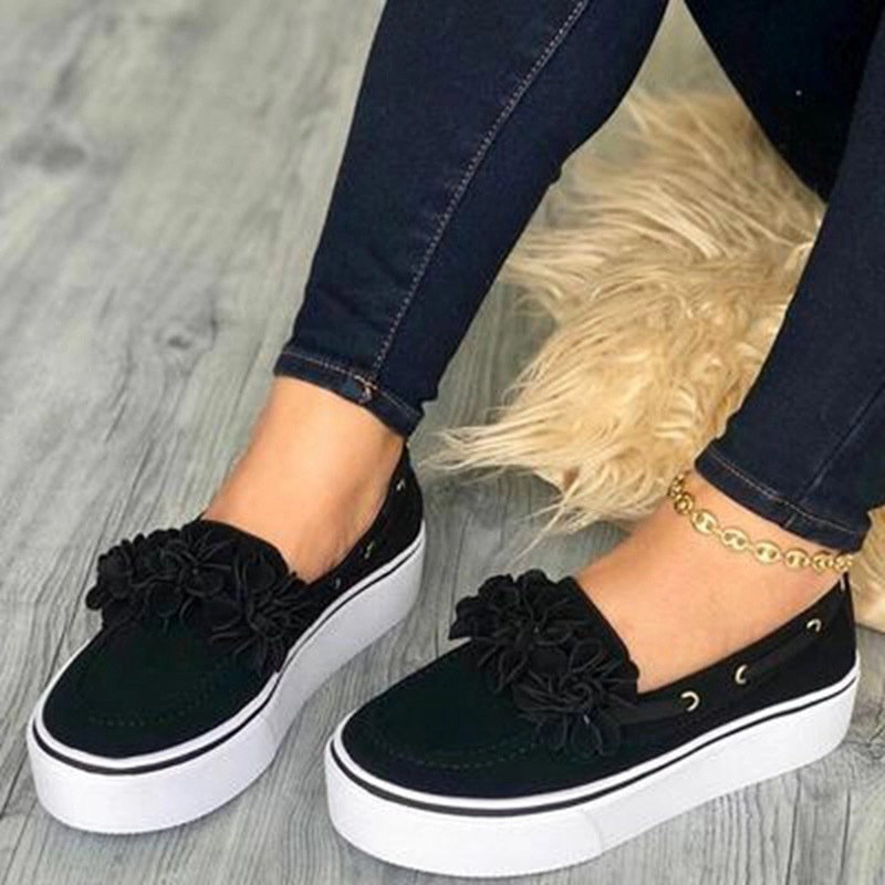 Women's Suede Flat Heel Flats With Lace-up shoes