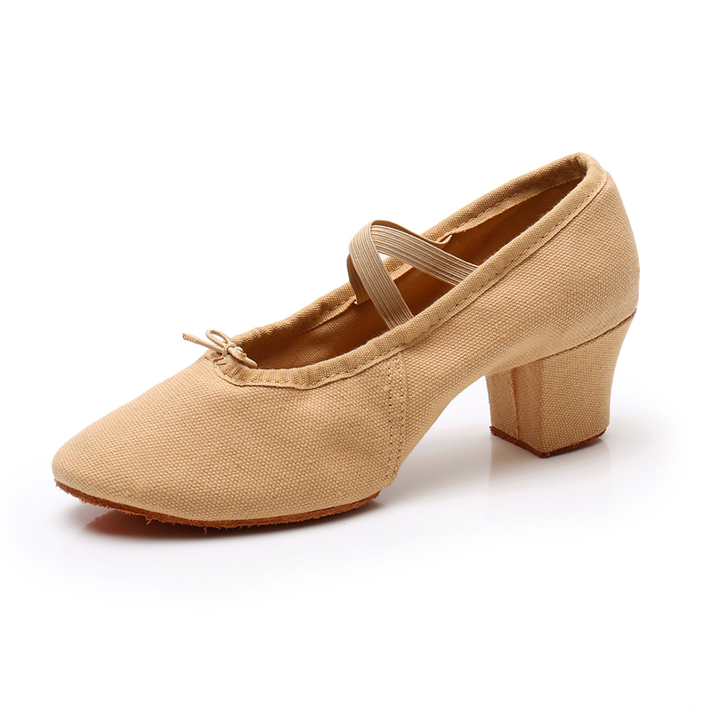 Women's Canvas Pumps Modern Jazz With Lace-up Dance Shoes