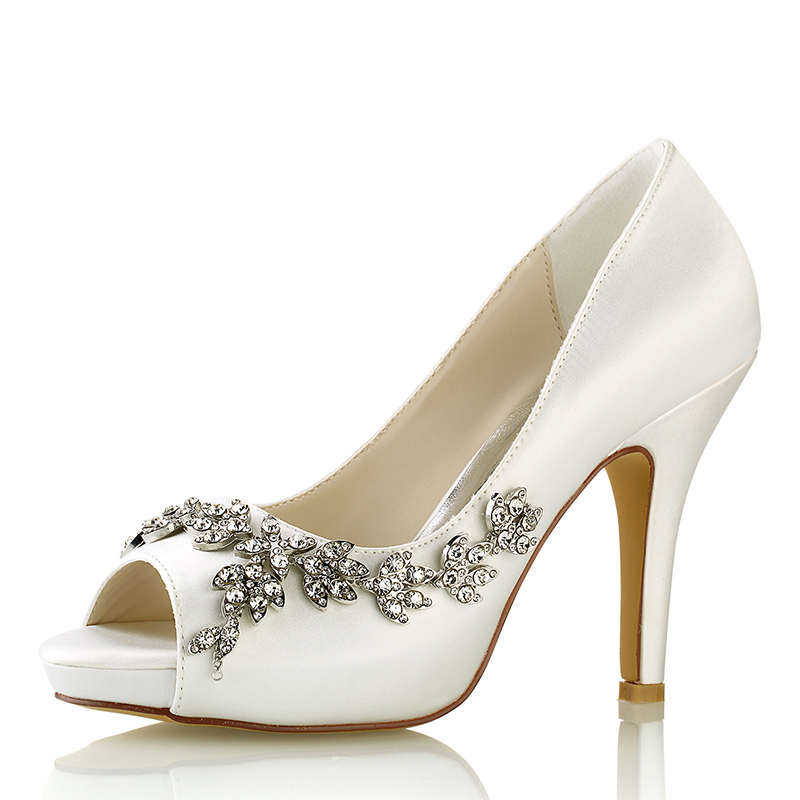 Women's Silk Like Satin Stiletto Heel Platform Pumps