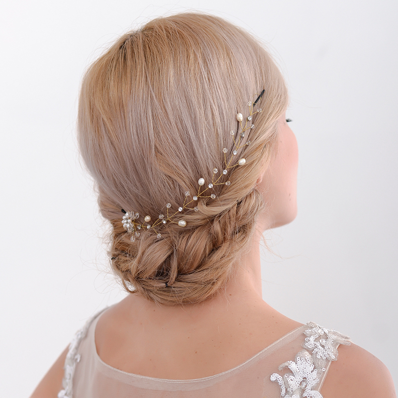 Ladies Romantic Alloy Combs & Barrettes With Venetian Pearl (Sold in single piece)