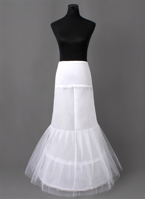 Women Nylon/Tulle Netting Floor-length 2 Tiers Petticoats