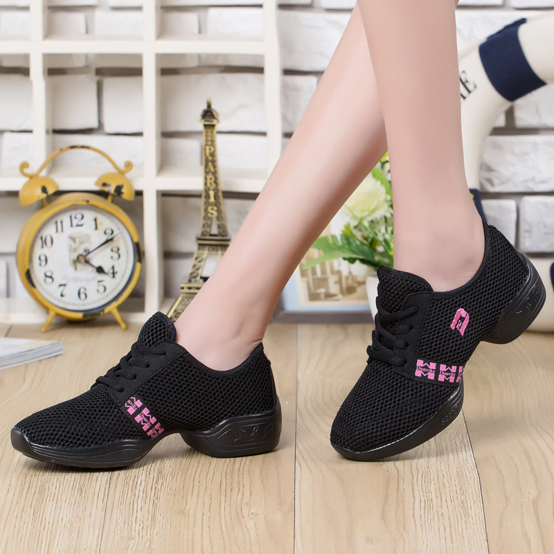 Women's Fabric Sneakers Sneakers With Lace-up Dance Shoes