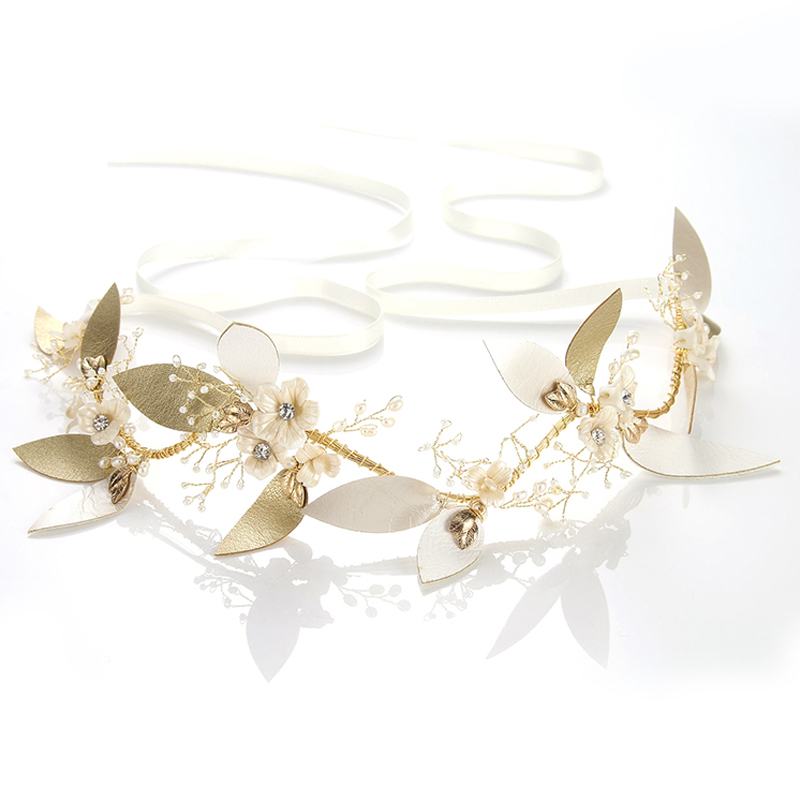 Ladies Elegant Alloy/Ceramic Headbands With Pearl