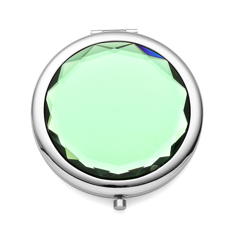 Personalized Round Zinc Alloy Compact Mirror (Sold in a single piece)