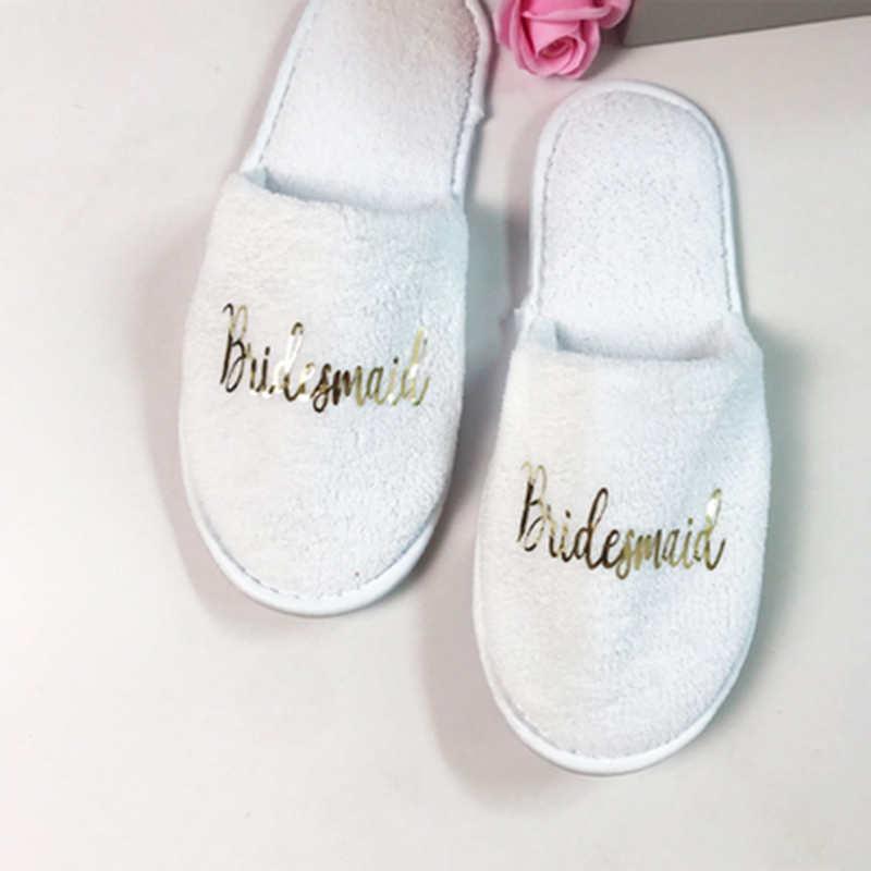 Bridesmaid Gifts - Velvet Cloth Slippers